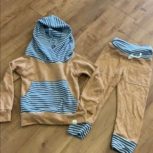 Infant LULU+ ROO Handmade hoodie and jogger pants